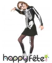 Robe squelette mi-longue pour fillette, image 1