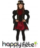 Robe Steampunk rouge et noire pour fille