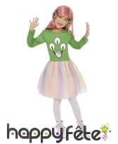 Robe tutu arc-en-ciel d'alien vert pour fille, image 1