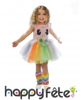 Robe tutu de petite licorne multicolore, enfant