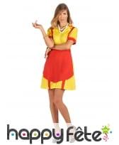 Robe tablier jaune rouge de serveuse US pour femme, image 1