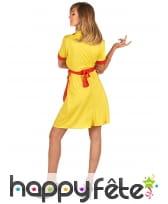 Robe tablier jaune rouge de serveuse US pour femme, image 3