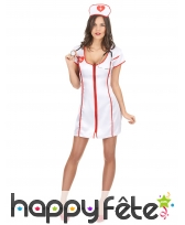 Robe uniforme blanc d'infirmière sexy, image 1