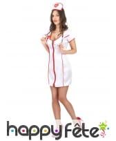 Robe uniforme blanc d'infirmière sexy, image 2