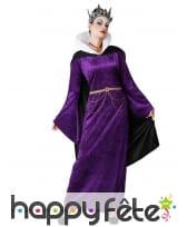 Robe violette de la méchante reine pour femme