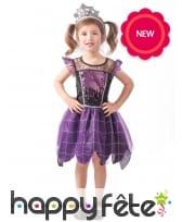 Robe violette de reine sorcière pour fille