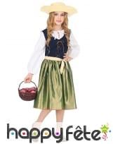 Robe verte style Renaissance pour enfant