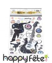 Stickers 3D décoratifs musique et rock'n roll