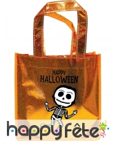 Sac à bonbons pailleté Happy Halloween