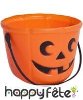 Seau à bonbons Halloween en forme de citrouille