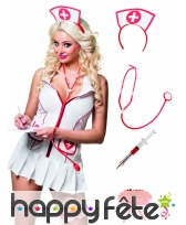 Set accessoires d'infirmière pour adulte
