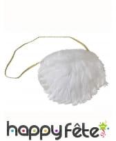 Sac à main recouvert de plumes blanches, image 1