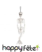 Squelette avec queue de sirène à suspendre, 40cm