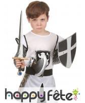 Set bouclier, épée et hache médiévale en plastique, image 2