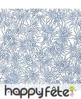 Serviettes blanches feu d'artifice bleu