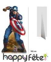 Silhouette Captain America bouclier taille réelle
