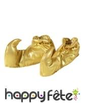 Sur-chaussures babouches dorées