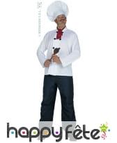 Set cuisinier composé de : coiffe/foulard/casaque