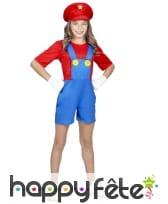 Salopette courte de Mario pour petite fille