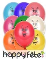 Sachat de 10 ballons visage souriant