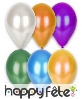 Sachet de 12 ballons métallisés de 28 cm, image 1