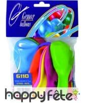 Sachet de 12 ballons multicolores