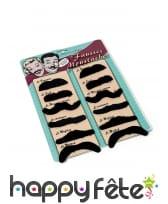 Set de 12 Moustaches noires adhésives, image 1