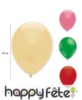 Sachet de 6 ballons de baudruche de 30cm