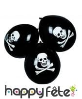 Sachet de 6 ballons tête de mort, image 1