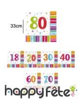 Serviettes d'anniversaire avec âge imprimé
