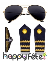 Set d'accessoires pilote de compagnie aérienne