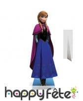 Silhouette de Anna reine des neiges en carton