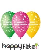 Sachet de ballons joyeux anniversaire