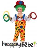 Salopette de clown multicolore pour enfant, image 1