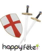 Set de chevalier avec bouclier et epees