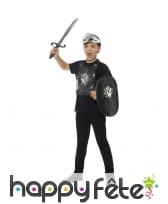 Set de chevalier noir pour enfant