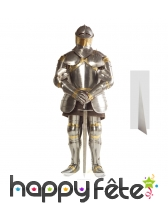 Silhouette de chevalier en armure, carton plat