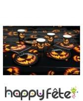 Set de Déco citrouille pour table de halloween