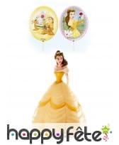 Set de décoration Belle pour gâteau de 8,5cm
