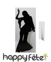 Silhouette de danseuse disco en carton plat