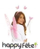 Set de fée papillon rose pour enfant