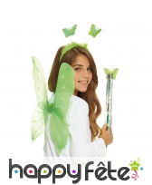Set de fée papillon vert pour enfant