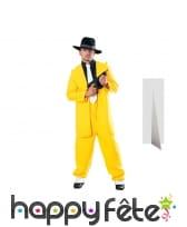 Silhouette de gangster jaune taille réelle