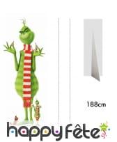 Silhouette du Grinch, taille réelle