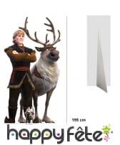 Silhouette de Kristoff et Sven taille réelle