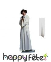 Silhouette de la princesse Leia en robe blanche