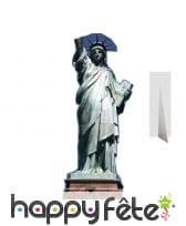 Silhouette de la statue de la liberté