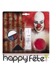 Set de maquillage clown tueur