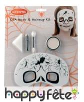 Set de maquillage squelette avec masque, image 1