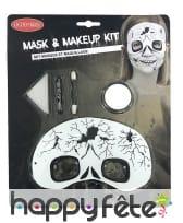 Set de maquillage squelette avec masque